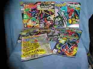 Collection of vintage spiderman comic books