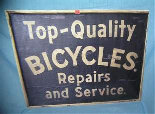 Lg. Antique retro style quality bicycle repairs and