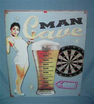 Antique style retro quality Man Cave advertising sign