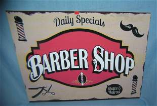 Barber shop shave and haircut advertising sign