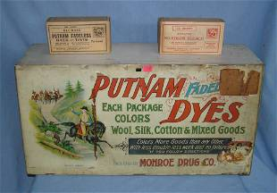 Antique Putnam Dyes all metal lithographed fadeless dye