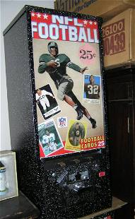 Football themed coin operated sports card vending
