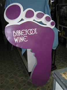 Barefoot wine large 38 inches wide by 66 inches high