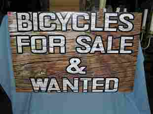 Bicycles for sale and wanted retro style advertising