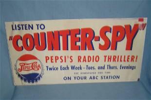 "Pepsi Cola ""Counter Spy"" radio thriller retro style"