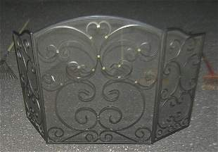 High quality cast iron fire place screen
