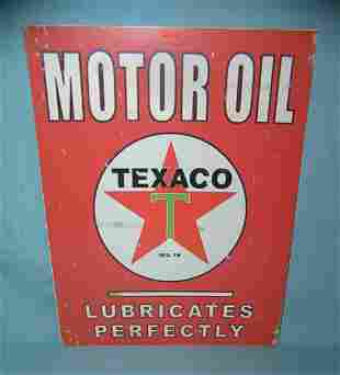 Texaco Motor Oil retro style advertising sign