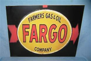 Fargo gas and oil company retro style advertising sign