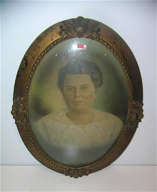 Antique hand colored portrait colorized photo