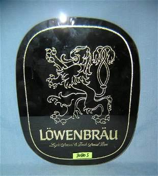 Vintage Lowenbrau beer advertising display piece