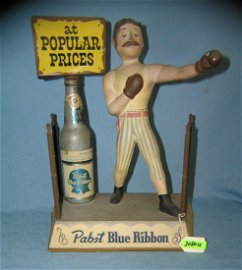 Early Pabst Blue Ribbon prize fighter display piece
