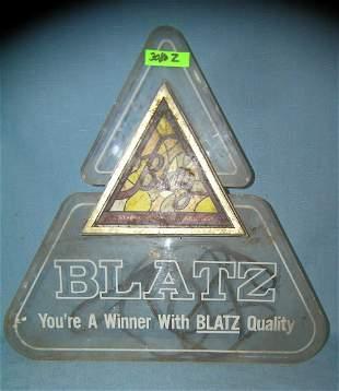 Blatz beer illuminated advertising display sign