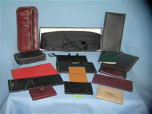 collection of vintage leather goods