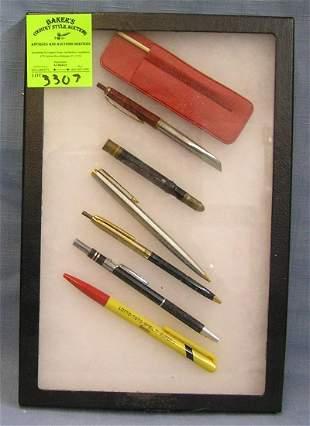 Collection of vintage pens includes Parker