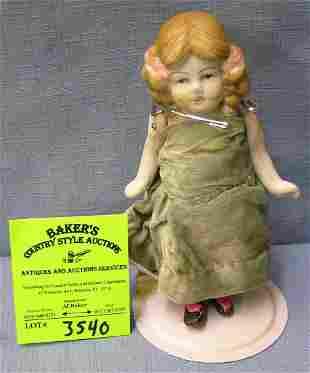 Antique hand painted porcelain doll