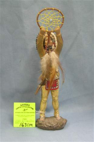Hand painted American Indian figure
