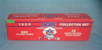 Score factory sealed unopened box of Baseball cards