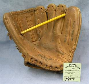 Vintage leather baseball glove by National