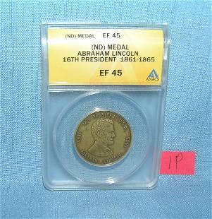 Abraham Lincoln 16th President commemorative