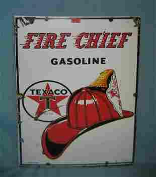 Texaco Fire Chief Gasoline retro style advertising sign