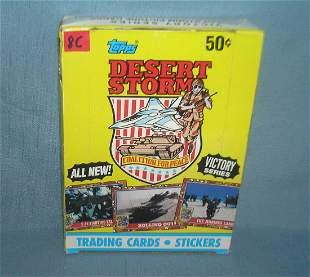 Desert Storm box of collector cards