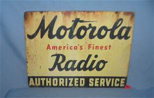 Motorola America's finast radio retro style sign