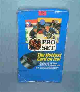 Pro set hockey cards factory sealed box
