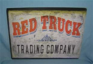 Red Truck Trading Company retro style sign