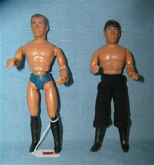 Pair of Star Trek 8 inch action figures Mego Toys 1974