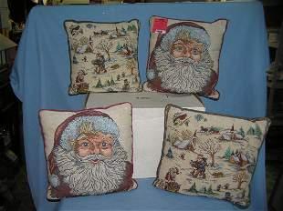 Box of vintage Christmas pillows