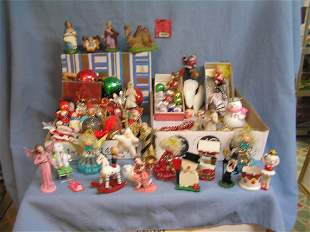 Vintage Christmas ornaments and decorations