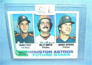 Danny Heap vintage rookie baseball card