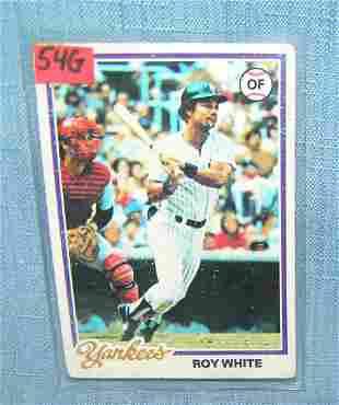 Roy White vintage all star baseball card