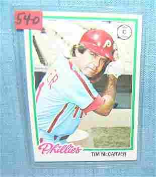Tim McCarver vintage all star baseball card