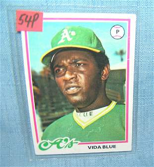 Vida Blue vintage all star baseball card