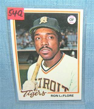 Rod LeFlore vintage all star baseball card