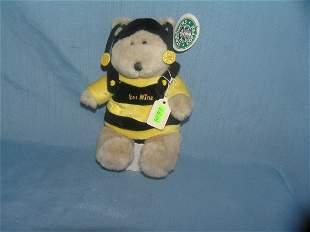 Vintage Star Bucks bee mine large bean bag toy