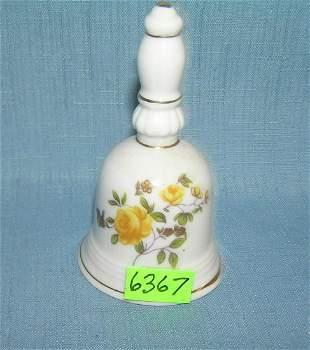Vintage floral decorated porcelain bell