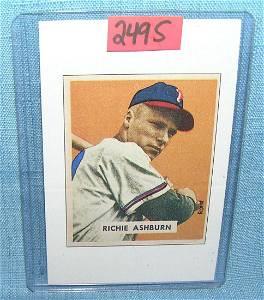 Richie Ashburn Bowman reprint all star baseball card