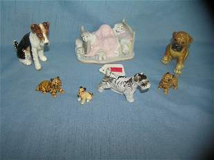 Collection of quality porcelain dog figurines