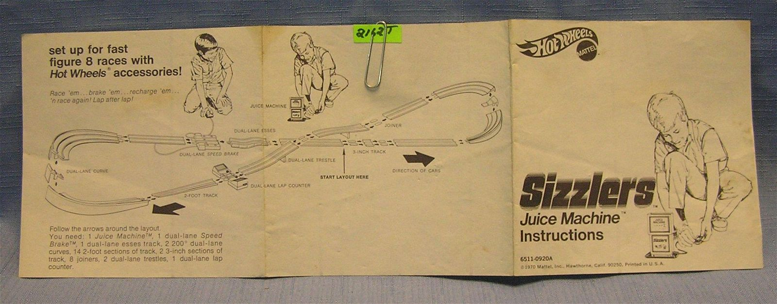 Original 1970 Hot Wheels Sizzler's brochure