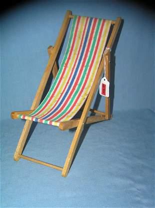 Great early salesman sample beach chair