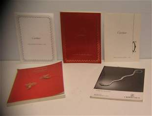Group of high end gold, siver and platinum catalogs
