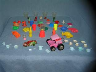 Group of collectible toys and miniatures