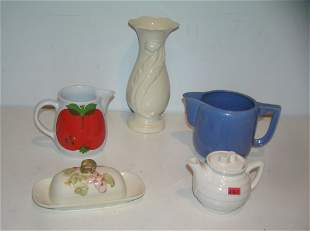5 piece china and porcelain group