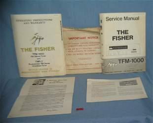 4 piece Fisher Co. ephemera group dated 1965