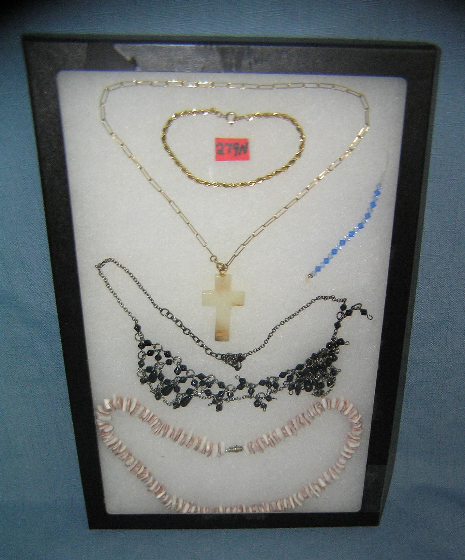 Group of vintage costume jewelry