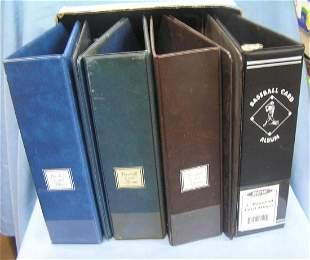Vintage Baseball card collector's albums