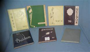Collection of vintage year books