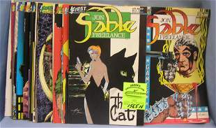 Large collection of vintage Sable comic books